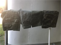 Four Pairs of Vintage Army Fatigue Pants