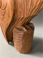 Hand Carved Wooden Owl