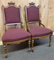Pair of East Lake Syle Parlour Chairs
