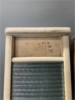 Pair of Glass and Galvanized Washboards