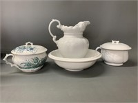 Mixed Lot of Ironstone Type Pieces