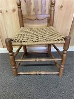 Oak Rush Seat Monastery Chair