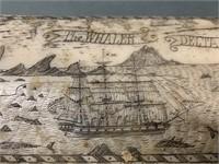 Capt.Thos Colder 1842 Scrimshaw