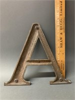 "9"" Bronze Letter A-Early"