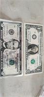 5.00 * Star Note(2013)  &  crisp 1974 $1.00 Bill