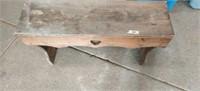 "Wood Bench. 30"" long"