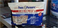 SEALED Food For Patriots, 72 hour food Supply ,