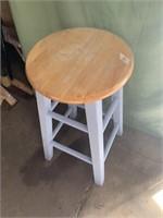 Wooden bar stool- 2ft tall