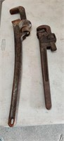 "Vintage Rigid 24"" Pipe wrench & Trimo 18"""