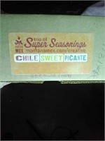 New trio of super seasonings (Chile, sweet,