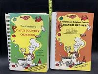 2 Tony chachere's seafood cookbooks