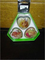 New angel painted pill boxes set of 3.