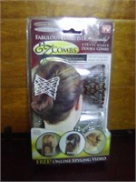 EZCombs stretchable double combs. New in package.