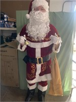 Santa costume 12 piece set - deluxe velvet size