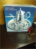 Silver plated 4pc coffee set.