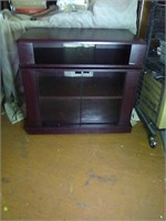 7th avenue black swivel tv stand newly put