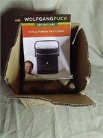 New in box Wolfgang Puck portable rice cooker