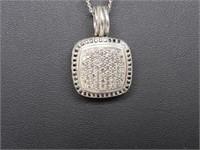 David Yurman Pave' Diamond Pendant Necklace