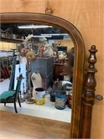 Restored Maple 4 Drawer Mirrored Dresser
