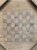Early Crokinole and Checker Game Board