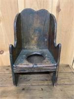 Primitive Original Paint Childs Potty Chair