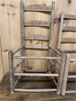 Lot of Ladder Back Chair Frames