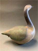 "Raku Canada Goose Figure 9"""