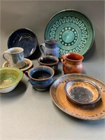 Large Lot of Artisan Pottery Pieces