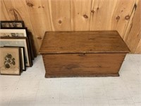 Primitive Pine Blanket Box