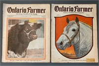 Pair of 1929 and 1930 Ontario Farmer Magazines