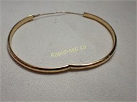 Hammered Design Gold Bangle