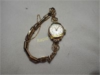 Ladies 9kt Gold Watch