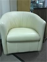 Natuzzi Leather Swivel Sitting Chair