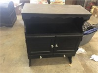 PAINTED BLACK CABINET