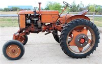 1948 Case VAH, 4-cyl gas, pto, adj wide front, fenders, hi-crop, runs, SN: 5267707 - This item will be sold at LIVE auction with ABSENTEE BIDDING available. More info, pics and video can be found in the catalog (see lot 5006).