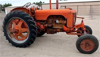 1950 Case DC 4-cyl gas, pto, adj wide front, fenders, runs, SN: 5401533DC - This item will be sold at LIVE auction with ABSENTEE BIDDING available. More info, pics and video can be found in the catalog (see lot 5007).