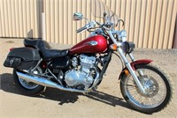 2009 Kawasaki Vulcan, 4,055 miles, has cover, exc cond, runs great, VIN: JKAENVC159A212936 - This item will be sold at LIVE auction with ABSENTEE BIDDING available. More info, pics and video can be found in the catalog (see lot 5011).