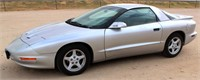 1996 Pontiac Firebird, 3.8 V6 eng, 5-spd trans, 2-dr, AC works good, runs, near new tires, recent tune-up, 88,727 mi. - This item will be sold at LIVE auction with ABSENTEE BIDDING available. More info, pics and video can be found in the catalog (see lot 5022).