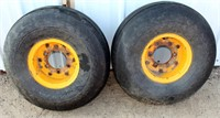 (2) Tractor/Implement Tires & Rims 9.00 - 10NHS