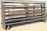 (6) HW Tubular Panels, 6-rail, 12' (well used)