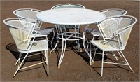 Lg Metal Table w/5-Chairs