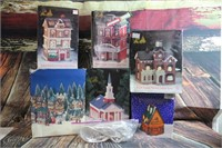 Wonderful Christmas Village w/ Lights