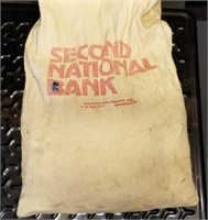 16.5lb Canvas Bank Bag of Wheat Cents