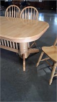 7pc Dining Table Set, maple made, 6 arrow back
