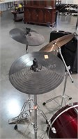 Drums and Accessories group lot, snare drum with