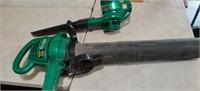 2 Electric Leaf Blowers (1 Is a Vac) both Run