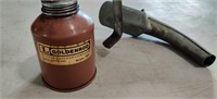 GoldenRod. Hand Oiler  Can  & oil Can Spout