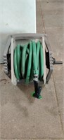Suncast Hose Reel and hose with Sprayer wall