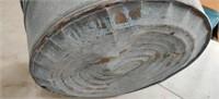 Galvanized Wash Tub. Dented Bottom