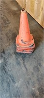 4 orange Safety cones.  Very Used condition